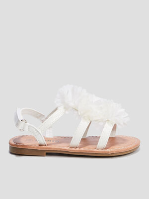 Sandales a froufrous Liberto blanc fille