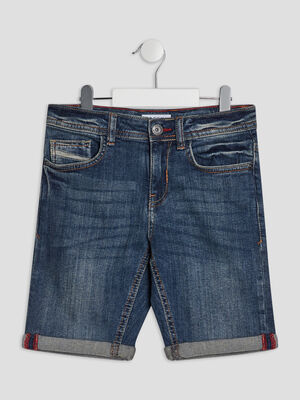 Bermuda regular en jean Creeks denim stone garcon