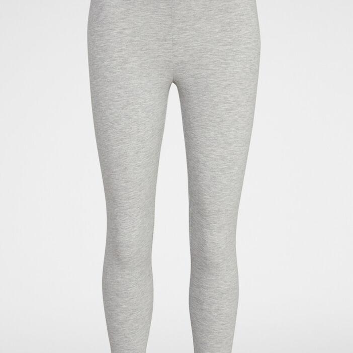 Legging 7/8e uni femme gris clair