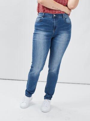 Jeans slim taille ajustable denim stone femmegt