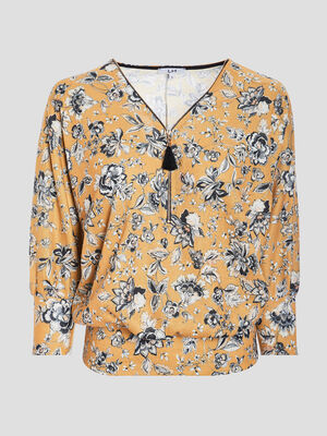 Pull manches 34 jaune moutarde femme