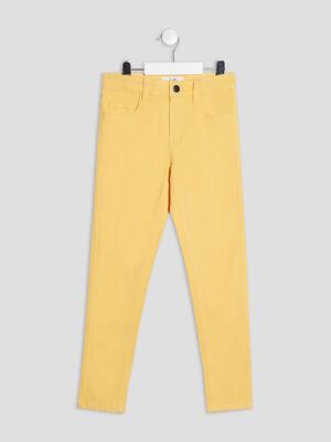 Pantalon skinny effet stretch jaune garcon