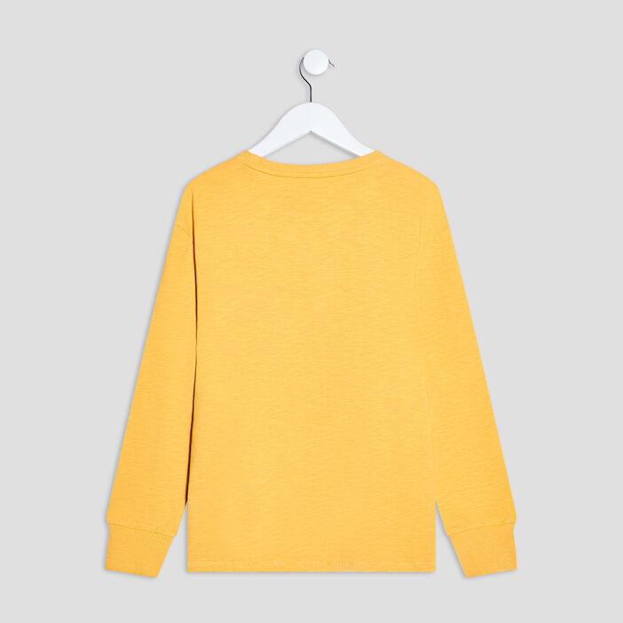T-shirt manches longues Creeks garçon jaune moutarde