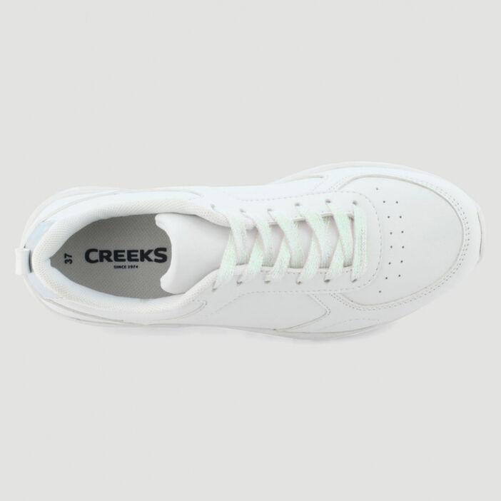 Baskets unies à lacets femme blanc