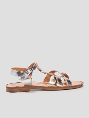 Sandales plates multicolore fille
