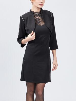 Veste bolero droite noir femme