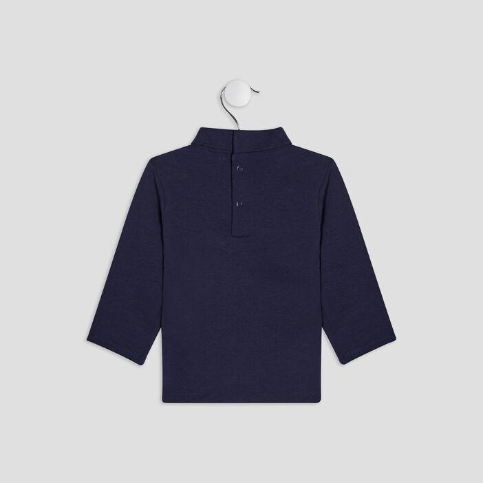 T-shirt manches longues bébé garçon bleu marine