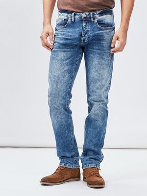 Jeans straight Creeks denim double stone homme