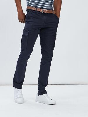 Pantalon slim ceinture Creeks bleu marine homme