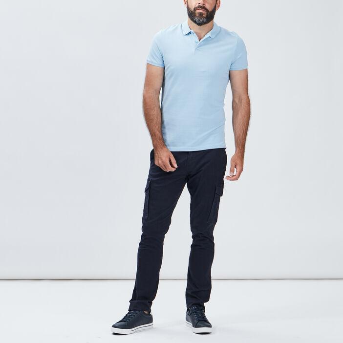 Polo manches courtes homme bleu ciel