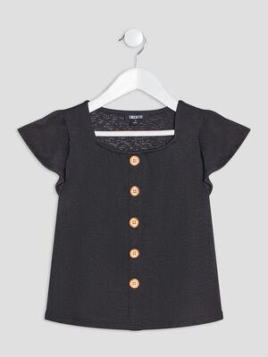 T shirt Liberto gris fonce fille