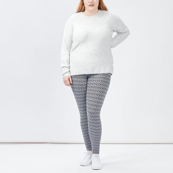 Pantalon legging grande taille femme grande taille bleu marine