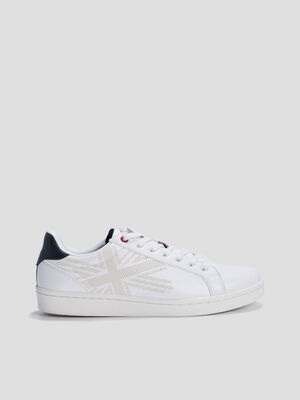 Baskets tennis Lee Cooper blanc homme