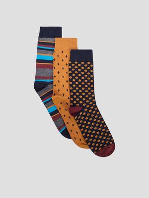 Chaussettes multicolore homme