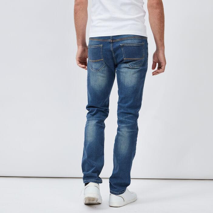 Jeans regular effet délavé homme denim dirty