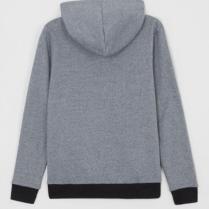 Sweatshirt capuche garçon bleu gris