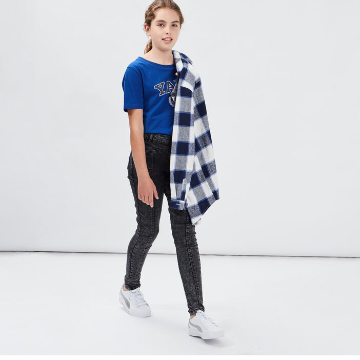 Jeans skinny Liberto fille denim snow gris
