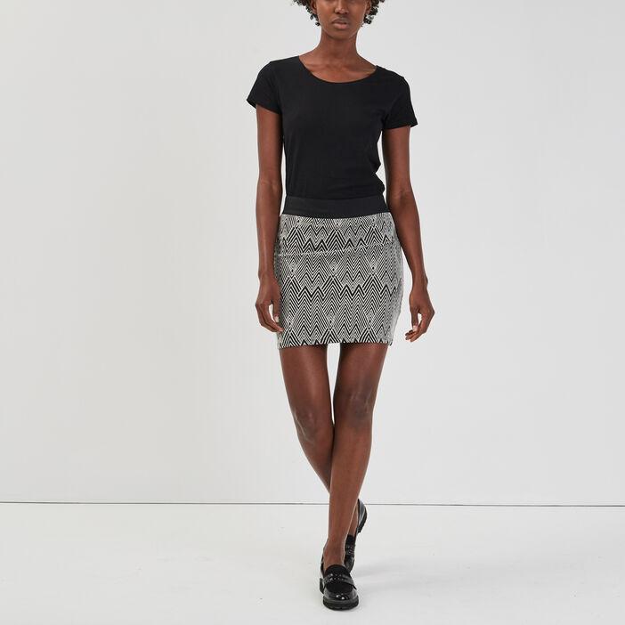 Jupe ajustée femme noir