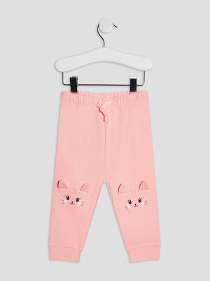 Pantalon jogging rose fluo bebef