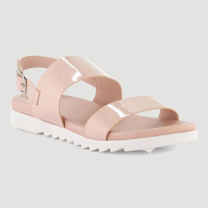 Sandales avec semelle sport femme rose