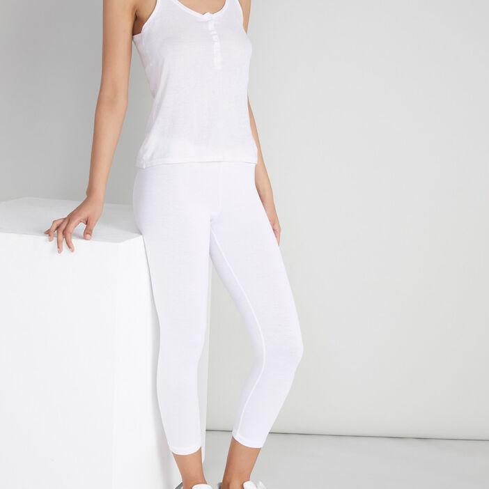 Legging 7/8ème femme blanc