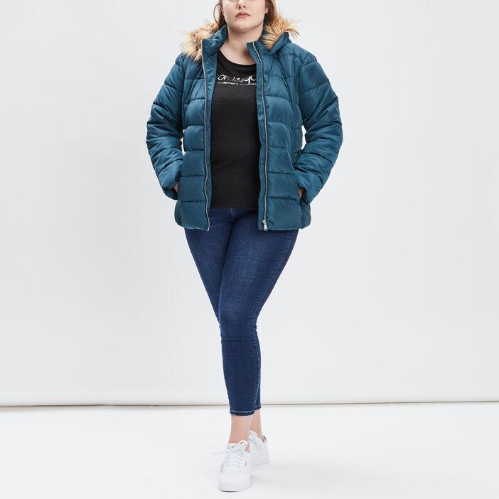 Doudoune ajustée grande taille femme grande taille bleu canard