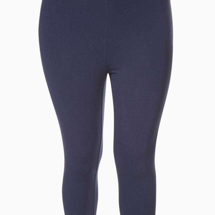 Legging court coton majoritaire femme grande taille bleu marine