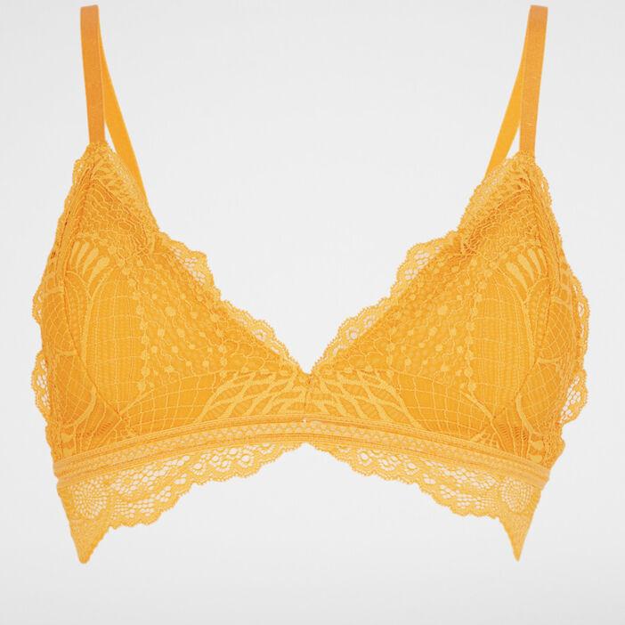 Soutien-gorge dentelle unie NESSIA trian femme jaune