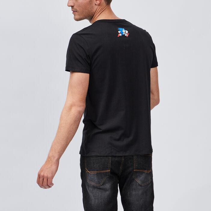 T-shirt manches courtes Sonic homme noir