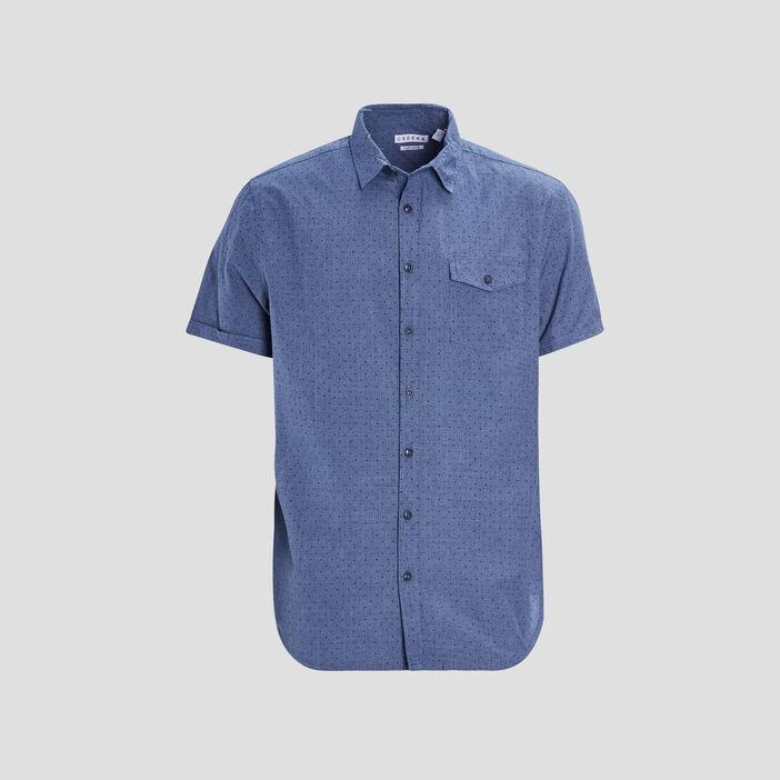 Chemise manches courtes Creeks homme bleu marine