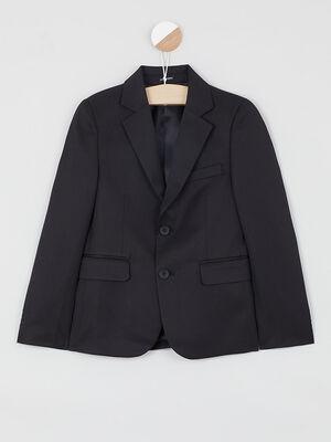 Veste de costume unie noir garcon