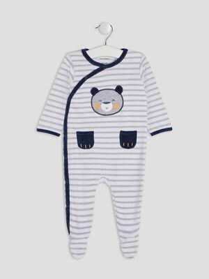 Pyjama dors bien gris bebe