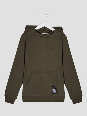 Sweatshirt a capuche Liberto vert kaki garcon