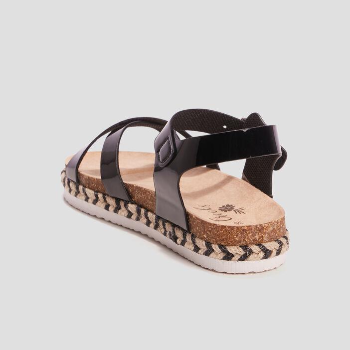 Sandales à détails tressés fille noir