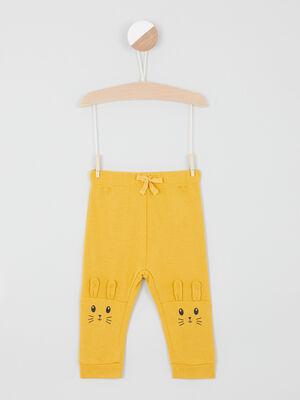 Pantalon taille extensible jaune bebeg