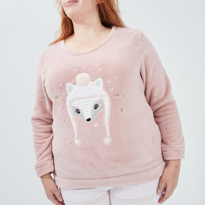Ensemble pyjama grande taille femme grande taille rose