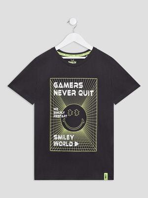 T shirt Smileyworld noir garcon