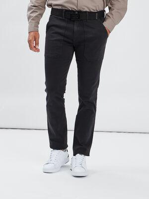 Pantalon regular stretch gris fonce homme