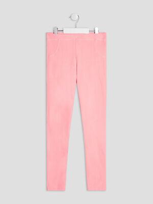 Pantalon tregging rose fluo fille