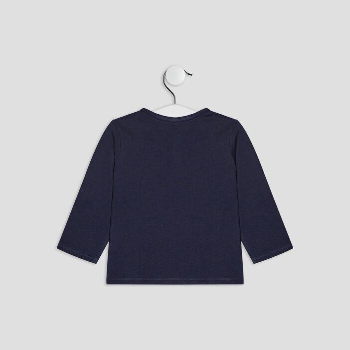 T-shirt manches courtes bébé garçon bleu marine