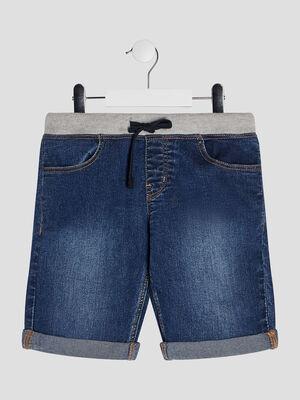 Bermuda droit en jean denim stone garcon