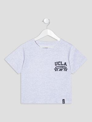 T shirt manches courtes UCLA gris fille