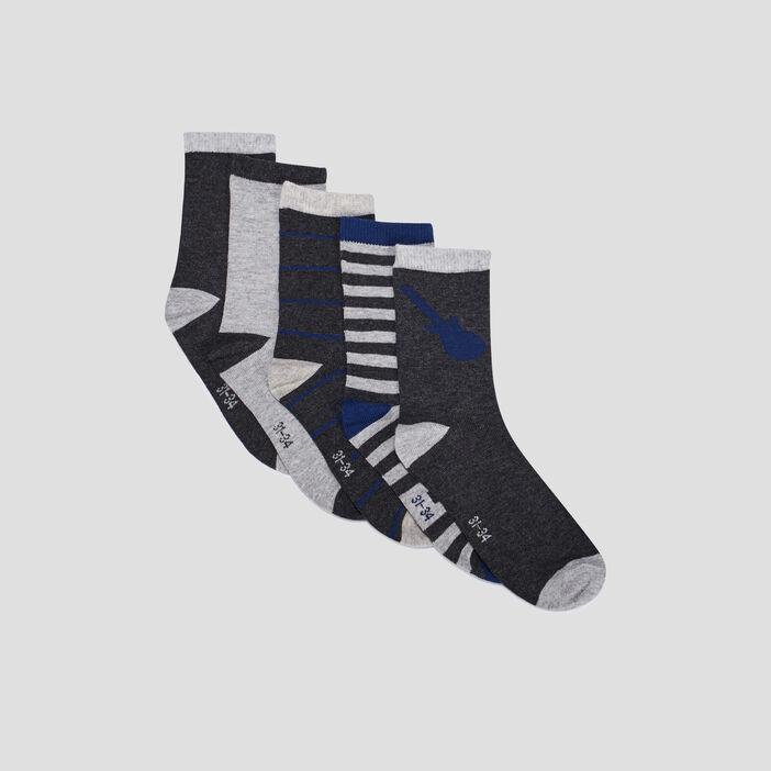 Chaussettes garçon gris