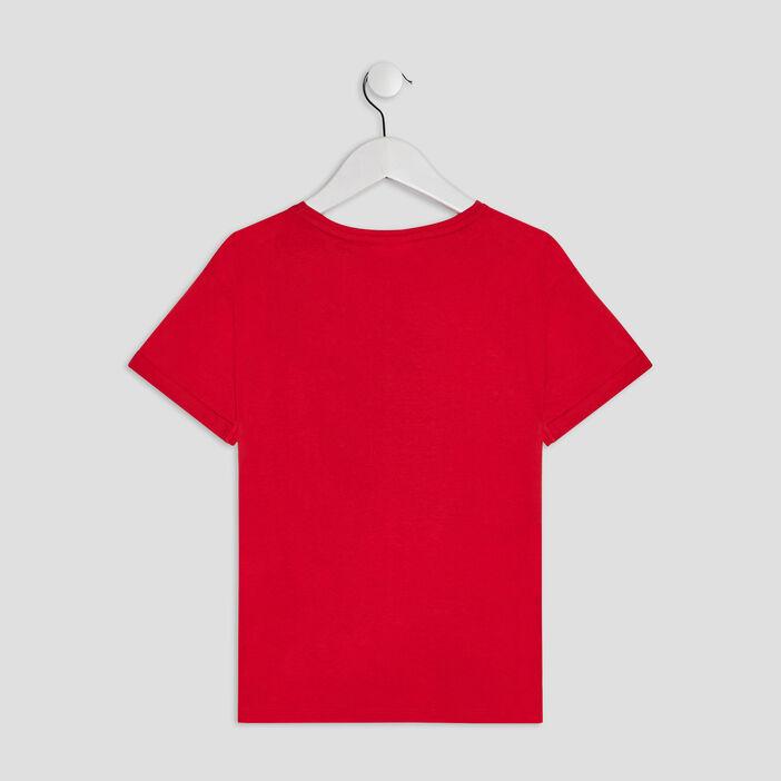 T-shirt Tom et Jerry fille rouge