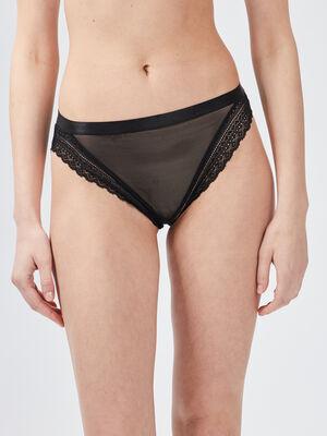 Culotte avec dentelle noir femme