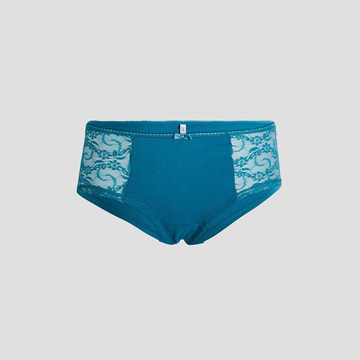 Boxer à dentelle femme bleu turquoise