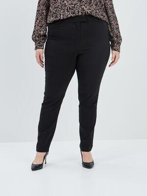 Pantalon droit noir femmegt