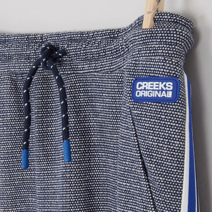 Pantalon de jogging bandes latérales garçon bleu marine