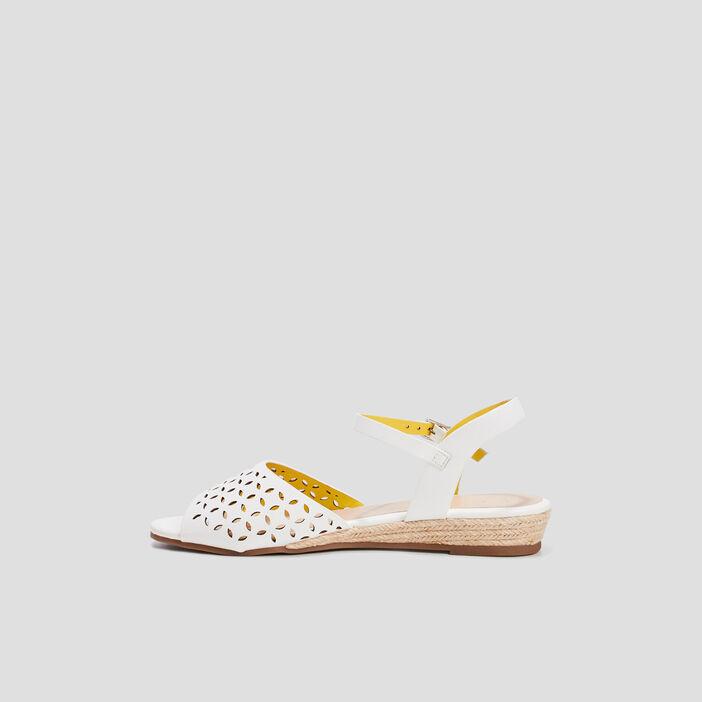 Sandales à talons compensés femme blanc