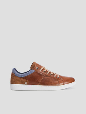 Baskets tennis en cuir Creeks marron homme